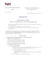 Nghị quyết Đại hội cổ đông thường niên năm 2013 - Công ty Cổ phần Dịch vụ Công nghệ Tin học HPT