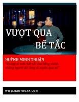 Vượt qua bế tắc (Diễn giả Huỳnh Minh Thuận)