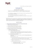 Nghị quyết Đại hội cổ đông thường niên năm 2012 - Công ty Cổ phần Dịch vụ Công nghệ Tin học HPT