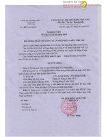 Nghị quyết Hội đồng Quản trị - Công ty Cổ phần Hóa chất Việt Trì