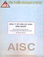 Báo cáo tài chính năm 2006 (đã kiểm toán) - Công ty Cổ phần Xây dựng Công nghiệp DESCON