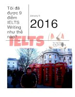 Toi da duoc 9 diem IELTS writing nhu the nao vu hai dang 9 IELTS writing