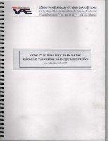 Báo cáo tài chính năm 2008 (đã kiểm toán) - Công ty Cổ phần Dược phẩm Hà Tây