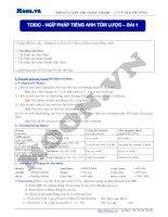 Tài liệu khóa luyện thi TOEIC 600 cô Mai Phương