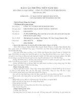 Báo cáo thường niên năm 2011 - Công ty Cổ phần Muối Khánh Hòa