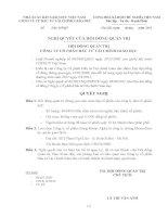 Nghị quyết Hội đồng Quản trị ngày 10-05-2011 - Công ty Cổ phần Đầu tư Tài chính Giáo dục