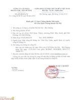 Báo cáo tài chính quý 3 năm 2014 - Công ty Cổ phần Bia Hà Nội - Hải Dương