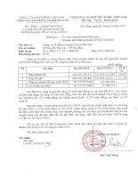 Báo cáo tài chính quý 3 năm 2014 - Công ty Cổ phần Xi măng Vicem Hải Vân