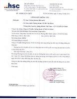 Nghị quyết Hội đồng Quản trị ngày 27-10-2011 - Công ty Cổ phần Chứng khoán Thành phố Hồ Chí Minh