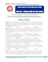 Tuyển chọn bài toán điện xoay chiều luyện thi THPT quốc gia môn Vật lý ( Mức độ thông hiểu và vận dụng )
