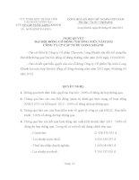 Nghị quyết Đại hội cổ đông thường niên năm 2012 - CTCP Cấp nước Long Khánh