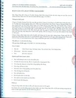 Báo cáo tài chính năm 2011 (đã kiểm toán) - Công ty Cổ phần Đường Ninh Hòa