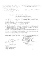 Báo cáo tài chính năm 2010 (đã kiểm toán) - Công ty cổ phần Du lịch Dầu khí Phương Đông
