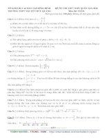 đề thi thử thpt quốc gia môn toán DE186 THPT nguyễn hữu quang, bình định