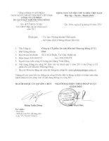 Báo cáo tài chính quý 1 năm 2011 - Công ty cổ phần Du lịch Dầu khí Phương Đông