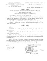 Nghị quyết Hội đồng Quản trị - Công ty cổ phần Dầu khí Đông Đô