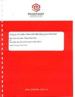Báo cáo tài chính quý 3 năm 2012 - Công ty cổ phần Phát triển Bất động sản Phát Đạt