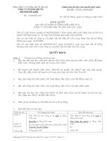 Nghị quyết Đại hội cổ đông thường niên năm 2011 - Công ty cổ phần Dịch vụ Vận tải Dầu khí Cửu Long