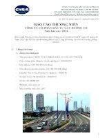 Báo cáo thường niên năm 2014 - Công ty Cổ phần Đầu tư Cầu đường CII