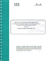 Báo cáo tài chính công ty mẹ năm 2015 (đã kiểm toán) - Công ty Cổ phần Cơ điện và Xây dựng Việt Nam