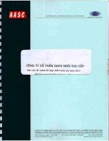Báo cáo tài chính năm 2011 (đã kiểm toán) - Công ty Cổ phần Gạch ngói cao cấp