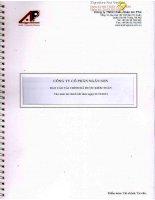 Báo cáo tài chính năm 2014 (đã kiểm toán) - Công ty Cổ phần Ngân Sơn