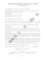 đề thi thử thpt quốc gia môn toán DE98 sở GD tỉnh  bắc giang w