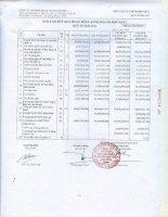 Báo cáo KQKD hợp nhất quý 2 năm 2011 - Công ty cổ phần Đầu tư Xây dựng và Khai thác Công trình Giao thông 584