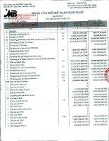 Báo cáo tài chính hợp nhất quý 3 năm 2011 - Ngân hàng Thương mại Cổ phần Quân đội