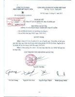 Nghị quyết Hội đồng Quản trị ngày 13-01-2011 - Công ty Cổ phần Phát triển Đô thị Từ Liêm