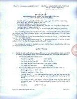 Nghị quyết Đại hội cổ đông thường niên năm 2011 - Tổng Công ty Gas Petrolimex-CTCP