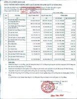 Báo cáo tài chính quý 2 năm 2012 - Công ty Cổ phần Bột giặt Lix