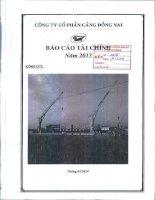 Báo cáo tài chính quý 4 năm 2013 - Công ty Cổ phần Cảng Đồng Nai