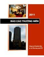 Báo cáo thường niên năm 2011 - Công ty Cổ phần Đầu tư và Thương mại PFV