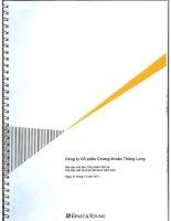 Báo cáo tài chính năm 2011 (đã kiểm toán) - Công ty cổ phần Chứng khoán MB