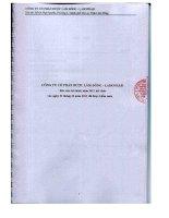 Báo cáo tài chính năm 2011 (đã kiểm toán) - Công ty Cổ phần Dược Lâm Đồng - Ladophar