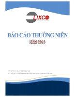 Báo cáo thường niên năm 2013 - Công ty Cổ phần Bột giặt Lix