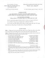 Nghị quyết Đại hội cổ đông thường niên - Tổng Công ty Cổ phần Dịch vụ Tổng hợp Dầu khí