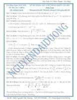 16 đề thi thử thpt quốc gia môn toán 2016 có đáp án hay