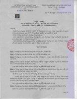 Nghị quyết Đại hội cổ đông thường niên - Công ty cổ phần Xây lắp III Petrolimex