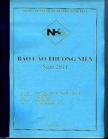 Báo cáo thường niên năm 2011 - Công ty Cổ phần Đường Ninh Hòa