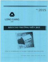 Báo cáo thường niên năm 2015 - Công ty cổ phần Đầu tư và Phát triển Đô thị Long Giang