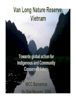 Van Long Nature Reserve, Vietnam Towards global action for Indigenous and Community Conserved Areas,
