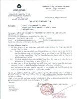 Nghị quyết Hội đồng Quản trị - Công ty cổ phần Đầu tư và Phát triển Đô thị Long Giang
