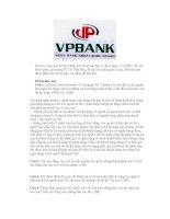 Đề tín dụng ngân hàng VPBANK
