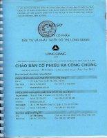 Bản cáo bạch - Công ty cổ phần Đầu tư và Phát triển Đô thị Long Giang