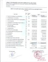 Báo cáo KQKD hợp nhất quý 1 năm 2011 - Công ty cổ phần Đầu tư và Phát triển Đô thị Long Giang