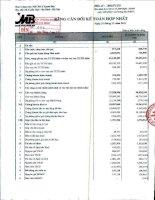 Báo cáo tài chính hợp nhất quý 4 năm 2011 - Ngân hàng Thương mại Cổ phần Quân đội