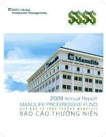 Báo cáo thường niên năm 2009 - Quỹ đầu tư tăng trưởng Manulife