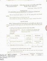 Nghị quyết Hội đồng Quản trị - Công ty Cổ phần Licogi 166